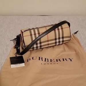 Burberry London Nova check barrel bag